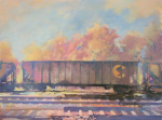 Foster-Coal-Car-Oil-Acrylic-and-Distemper-on-Canvas-2012-18x24