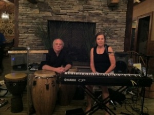 Photo of jazz musicians Christine & Elliot Spero
