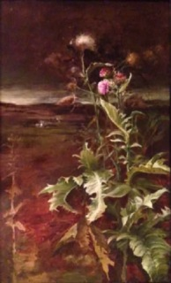 Last of the Summer Thistles—  Oil on Board