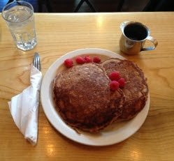 Photo of our new special: Cranberry Walnut Pancakes